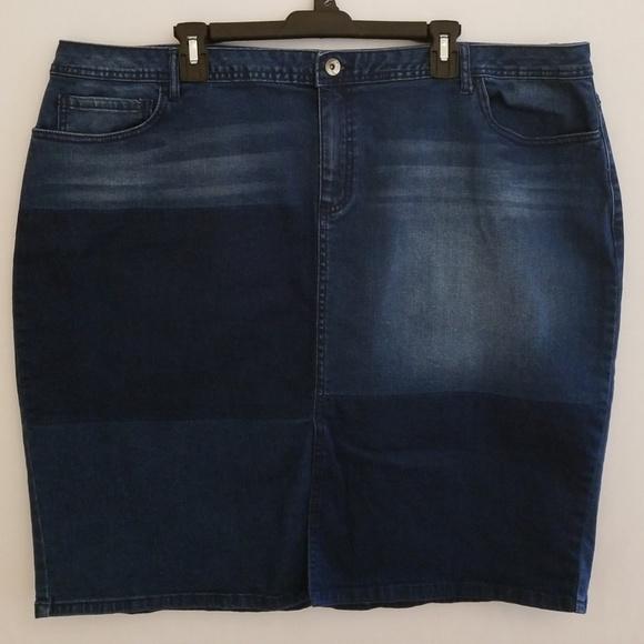 77c093076 Cato Dresses & Skirts - Cato Women's Distressed Stretchy Denim Skirt